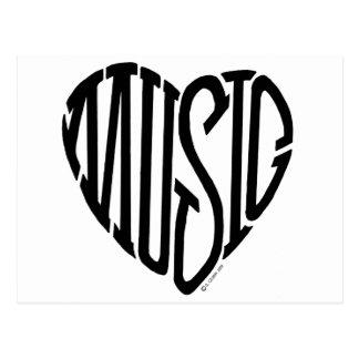 Music Heart Postcard