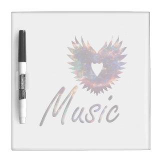 Music heart wing below nebula 1 dry erase whiteboards