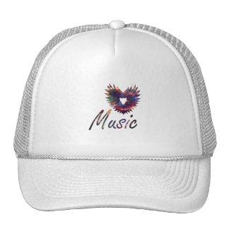 Music heart wing below nebula 1 mesh hats