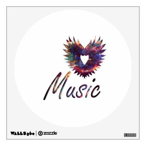 Music heart wing below nebula 1 wall skins