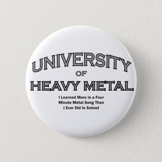 MUSIC-HEAVY METAL BUTTON