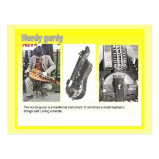 Music,  Hurdy gurdy player Postcard