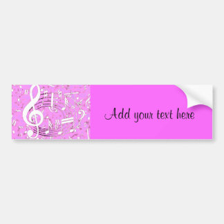 Music I Live for_ Car Bumper Sticker