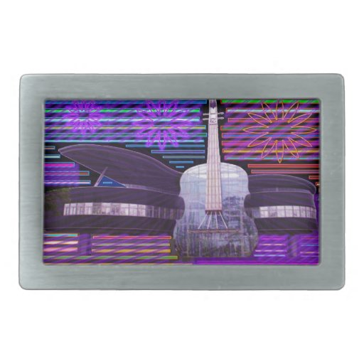 Music Idol Fans Competition Rectangular Belt Buckle