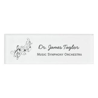 Music Illustration Band Symphony Orchestra Name Tag