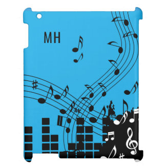 Music Illustration custom monogram device cases Case For The iPad 2 3 4