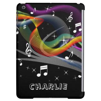 Music Illustration custom name device cases iPad Air Case