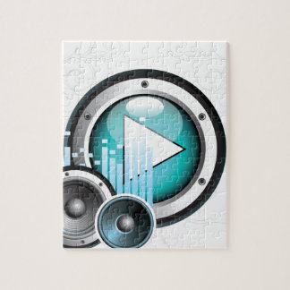 music illustration with speaker and design element jigsaw puzzle