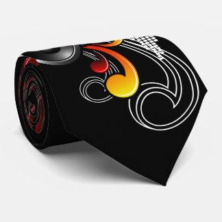music illustration with speaker and design element neck tie