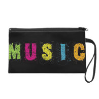 MUSIC in Abstract and Color Wristlet Clutch