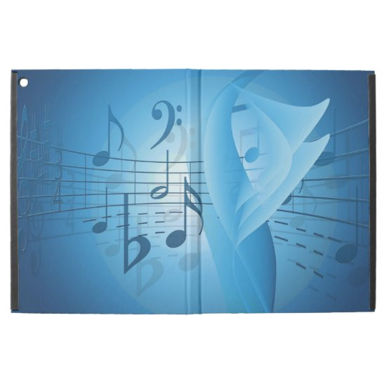 "Music in Blue iPad Pro 12.9"" Case"