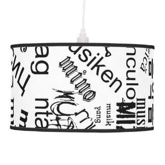 Music in Different Languages Ceiling Lamp