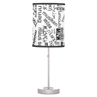 Music in Different Languages Table Lamp