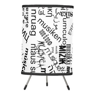 Music in Different Languages Tripod Lamp