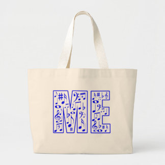 music in me tote bags