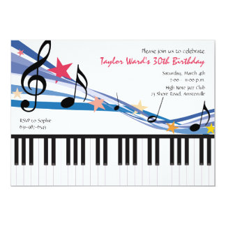 Music in Me - Birthday Party Invitation