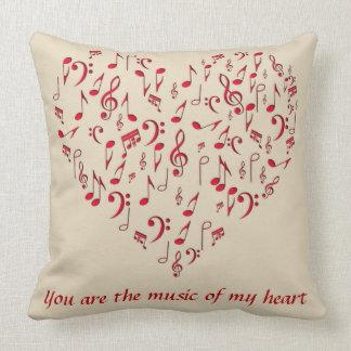 music in my heart throw pillow