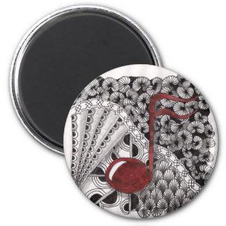 Music in my veins 2 inch round magnet