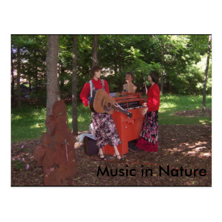 Music in Nature Postcard