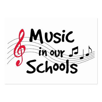 Music in Our Schools Large Business Card