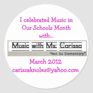 Music in our Schools Month Stickers