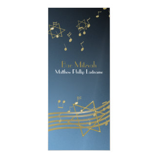 Music in the Air Bar Mitzvah 9.25 x 4 Card