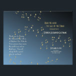 """Music in the Air Bar Mitzvah Program Cover Flyer<br><div class=""""desc"""">Customize text and fonts on both front and back of this flyer. 8.5 x 11 can be folded in half and used as the whole program or just the program cover if additional pages are needed. Value paper is suggested for this product usage, due to paper weight and ease of...</div>"""