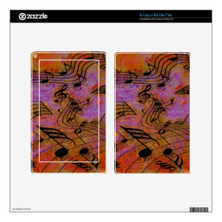 MUSIC IN THE AIR eReader Skin Decal For Kindle Fire