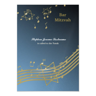 Music in the air 5x7 paper invitation card