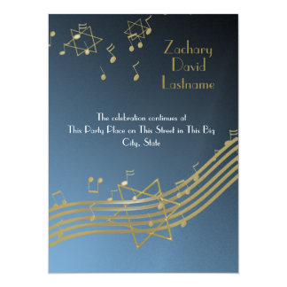 "Music In the Air 5.5"" X 7.5"" Invitation Card"