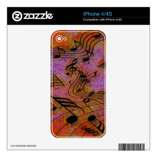 MUSIC IN THE AIR iPhone Skin Decal For iPhone 4