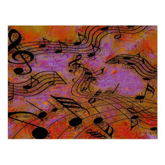 MUSIC IN THE AIR POSTCARD