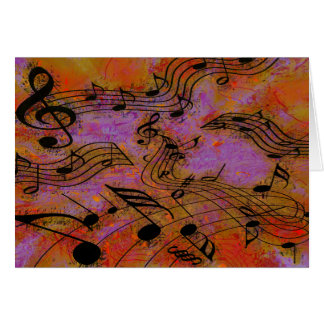 MUSIC IN THE AIR STATIONERY NOTE CARD