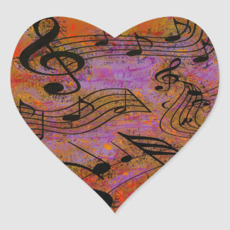 MUSIC IN THE AIR HEART STICKER