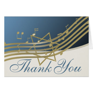 Music in the Air Thank You Note Card