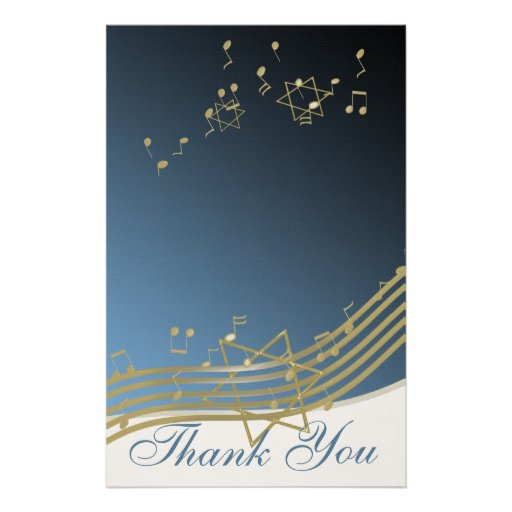 Music in the Air Thank You Notes Customized Stationery