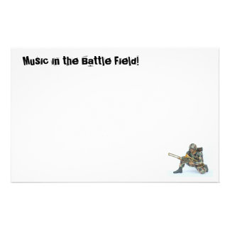 Music in the Battle Field! Stationery