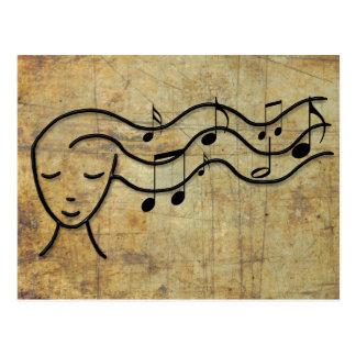 music in the hair postcard