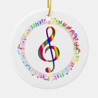 Music in the Round Double-Sided Ceramic Round Christmas Ornament