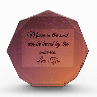 Music in the soul acrylic award