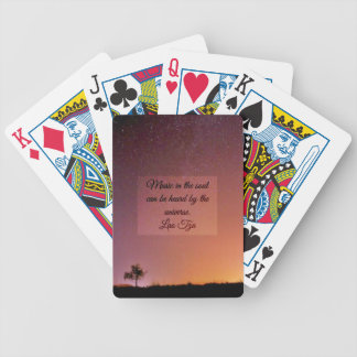 Music in the soul bicycle playing cards