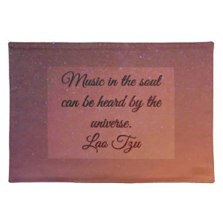 Music in the soul cloth placemat