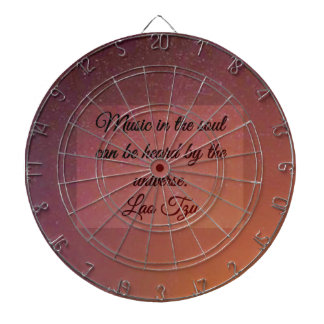 Music in the soul dartboard with darts