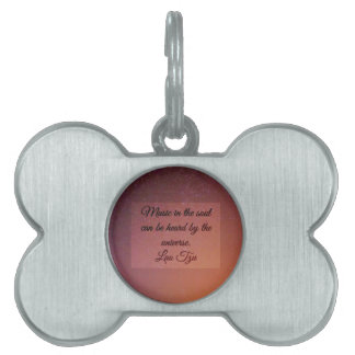 Music in the soul pet name tag