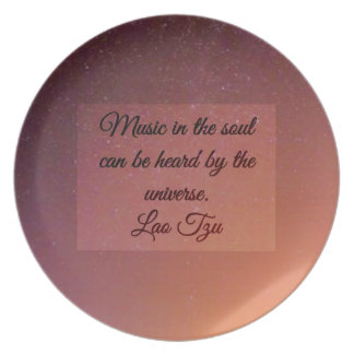 Music in the soul plate