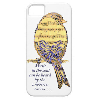 Music in the Soul Quote & Music Note Bird iPhone SE/5/5s Case