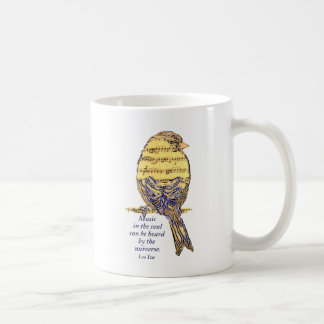 Music in the Soul Quote & Music Note Bird Mugs