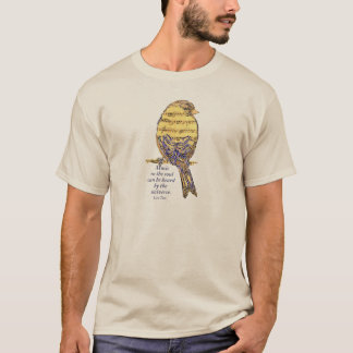Music in the Soul Quote & Music Note Bird T-Shirt