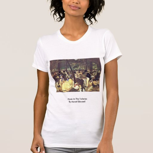 Music In The Tuileries By Manet Edouard Tshirt