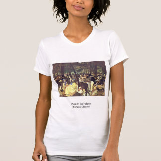 Music In The Tuileries By Manet Edouard Tshirts